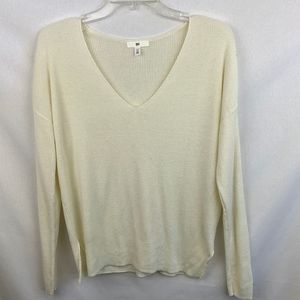 Nordstrom Brand Cream Colored  V-Neck sweater - XS